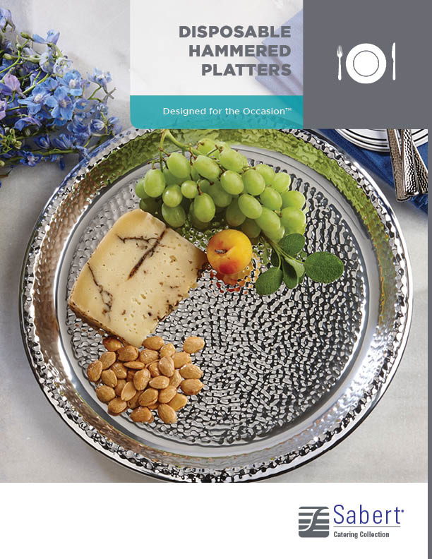 Catering Collection: Disposable Hammered Platters