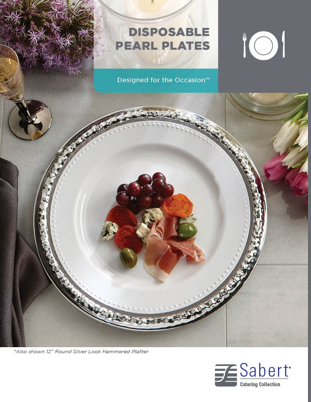 Catering Collection: Disposable Pearl Plates