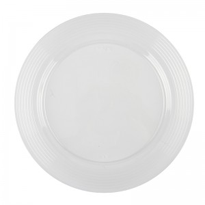 "10.25"" Clear Round Plate"