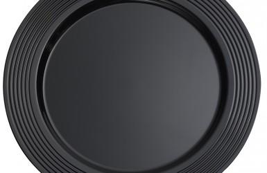 "10.25"" Black Round Plate"