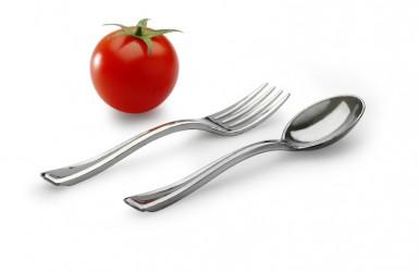 Silver Tasting Fork & Spoon