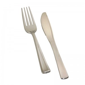 Silver Look Fork and Knife